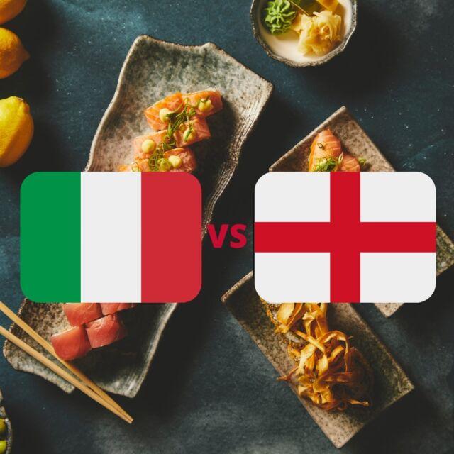 """🇮🇹🏴DEN HELT STORE FINALE MELLEM ITALIEN & ENGLAND🏴🇮🇹  Får vi de store titler med """"IT'S COMING HOME"""" eller """"IT'S COMING ROME"""" 🥇🥇  En spændende kamp bliver det helt sikkert og vi står klar til at assistere dig som Mæhle 🍣  Så hop forbi linket forneden:   👇👇  https://catchsushibar.dk/takeaway-menu/  Så sørger vi for at du er kampklar allerede før optakten 😎  GO' WEEKEND OG GO' KAMP   Mvh. teamet hos Catch Sushi Bar & Cocktails  #catchsushibar #sushi #nigiri #maki #foodporn #catch #bar #cocktails #migogaalborg #aalborg #sushifestival #takeawayfestival #takeaway #food #yummy #delicious #euro2020 #final #euro2020final"""